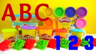 PLAY-DOH FUN with NUMBER BUCKET - LETTERS T-U-V-W-X-Y-Z PART 8