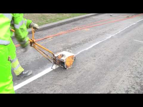 Painting Stripes On The New Road