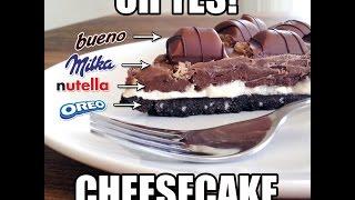 How To Make A Milka Oreo Kinder Bueno Nutella Cheesecake Hd