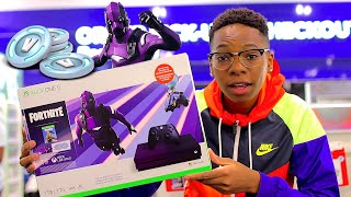 "XBOX ONE S FORTNITE SPECIAL EDITION ""GIVEAWAY"" (Dark Vertex Skin) Unboxing Battle Royale Outfit"