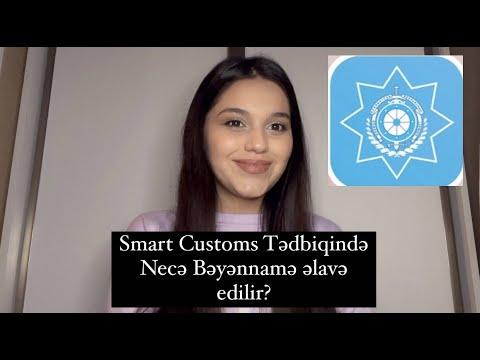 Sadələşdirilmiş Elektron Ticarət Bəyannaməsindən istifadə qaydaları (e.customs.gov.az)