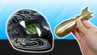 Wie gut beschützt dich ein billiger Motorrad Helm und wie stabil ist er? - Experiment