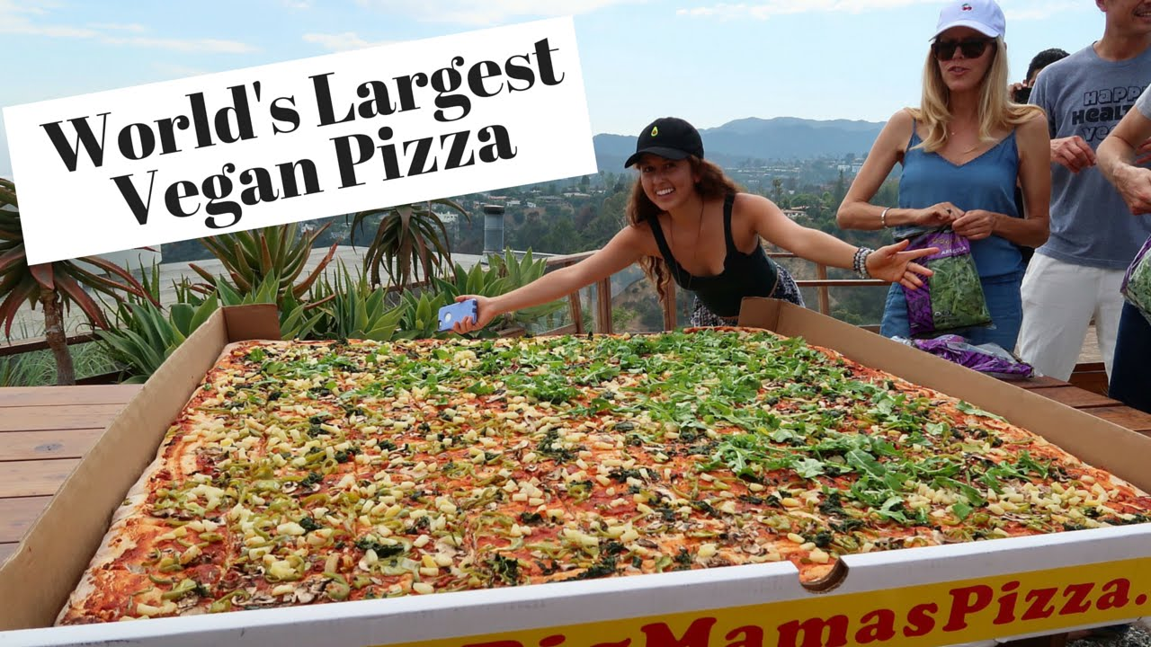 World's Largest Vegan Pizza!!