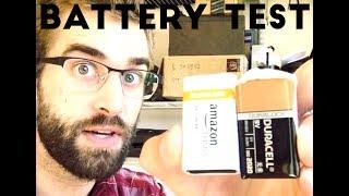 ★★★★★ Amazon Battery Test - AmazonBasics vs. Duracell 9 Volt Batteries Test & Review