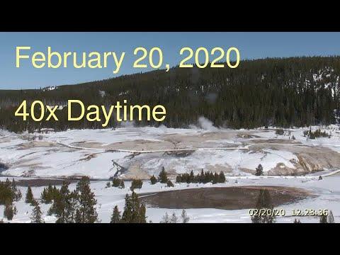 February 20, 2020 Upper Geyser Basin Daytime Streaming Camera Captures