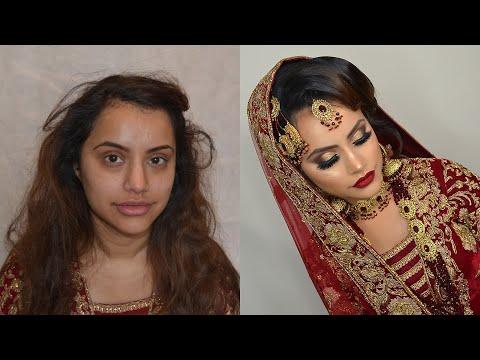 Regal asian bridal transformation look by Salma Akhtar MUA