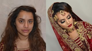 Regal asian bridal transformation look by Salma Akhtar MUA