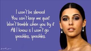 Naomi Scott - Speechless (Karaoke) No Vocal Demo