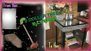 DIY DOLLAR TREE TABLE USING TOILET PLUNGERS!!!