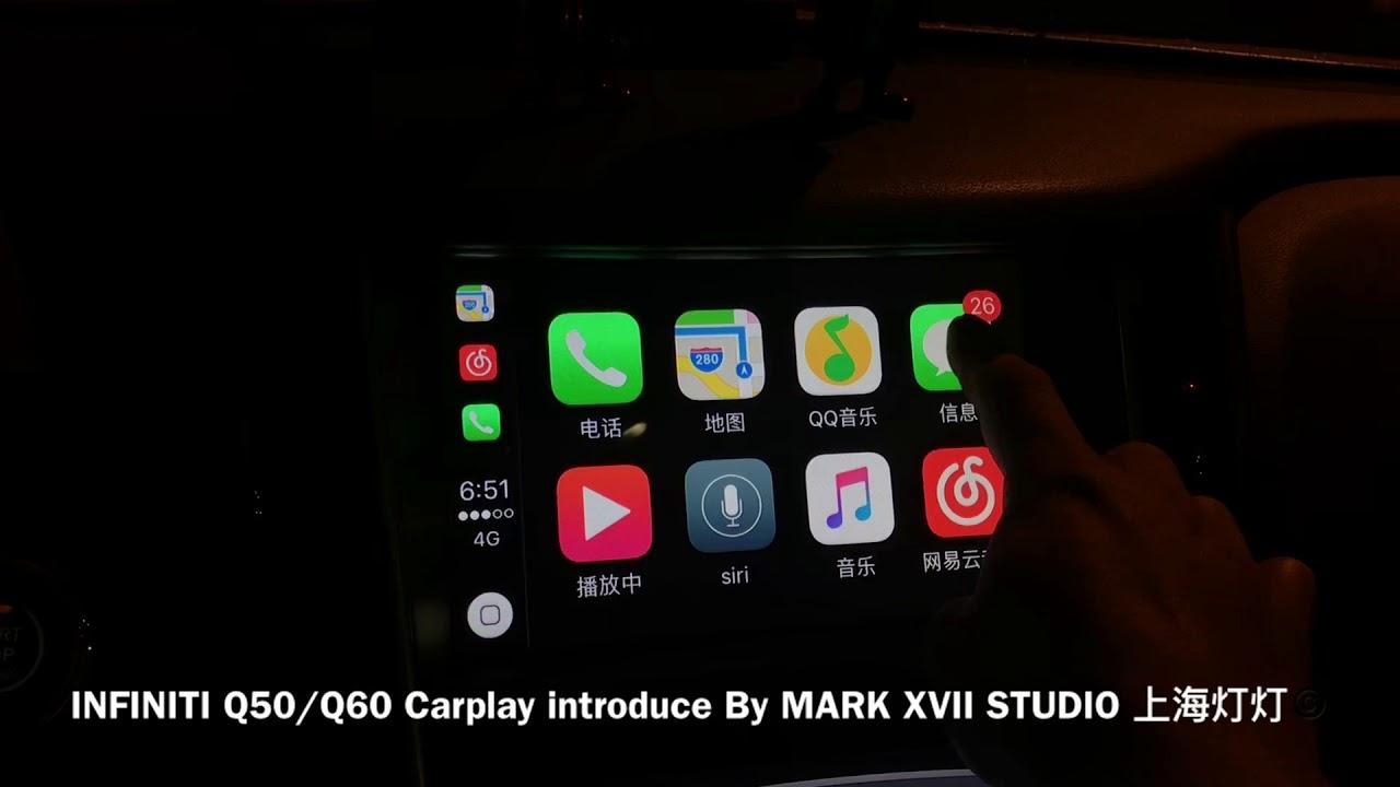 Infiniti Q50 Q60 Carplay Mod 8core Android Mod Youtube