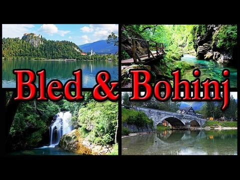 Bled and Bohinj lakes Vintgar gorge Slovenia HD
