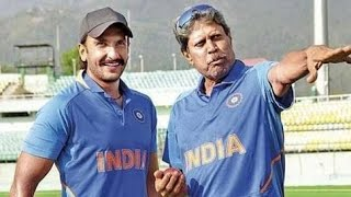 Ranveer Singh Trained by Kapil Dev To Play His Famous 'Natraj' Shot in 83 World Cup Movie