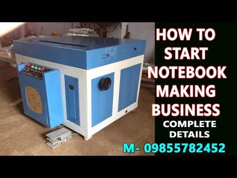 Semi Automatic Notebook Making Machine Price In India M- 08360540277