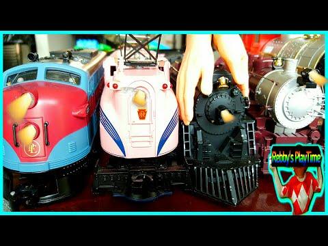 Toy Train Videos For Toddlers, Kids, Babies With Nursery Rhymes. Old Mcdornald, Lodon Bridge Songs.