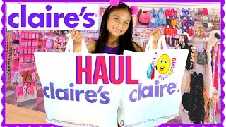 HUGE CLAIRE'S BACK TO SCHOOL HAUL 2016! AWESOME SALE! FREE STUFF!