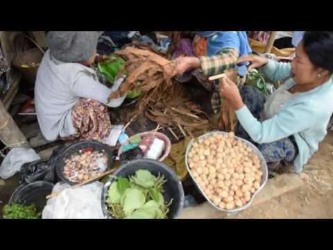 Chin market day - women selling their goods, Myanmar