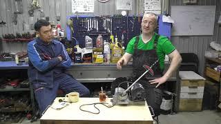 Тест моторных масел на машинке трения - фильм 1
