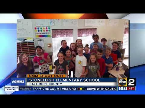 Good morning from 5th graders at Stoneleigh Elementary School