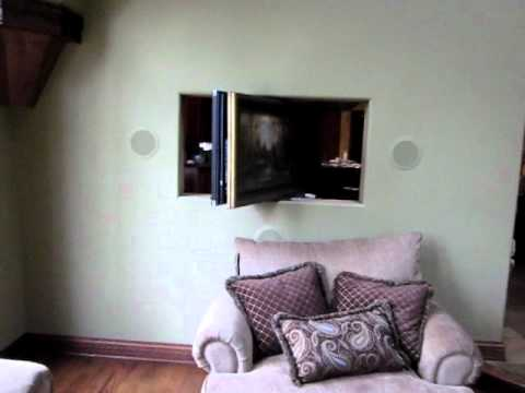 tv stand living room chocolate and turquoise 360 degree movable installation part2 - youtube