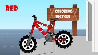 Bicycle Coloring - Toy Bike For Kids Learning Games Educational Games Toddler Color Color Song