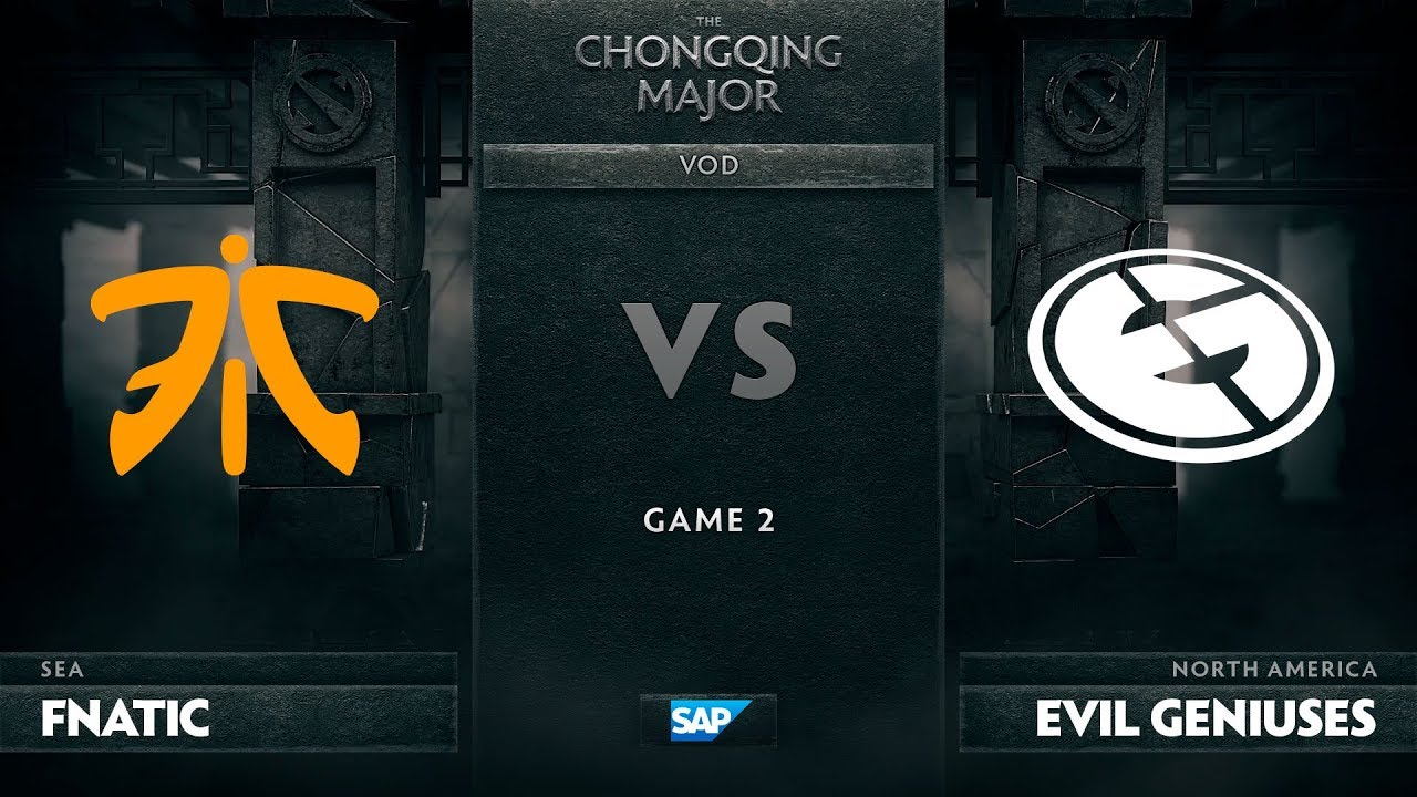[EN] Fnatic vs Evil Geniuses, Game 2, The Chongqing Major Group D