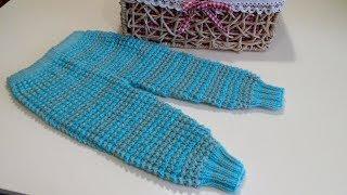 Как связать детские штанишки(на 6-12 мес.). Knitted baby trousers.