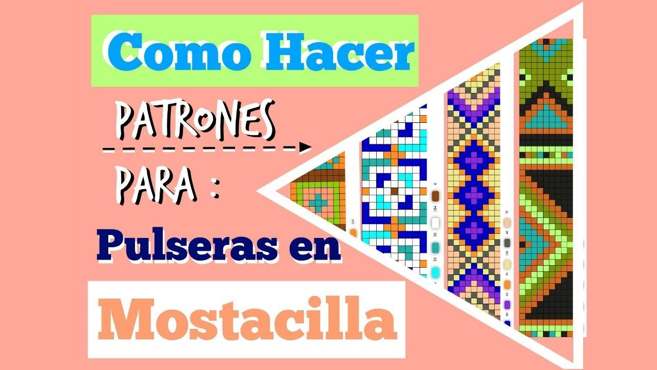 Como Hacer Patrones Para Pulseras En Mostacilla - Lejarevalo - YouTube