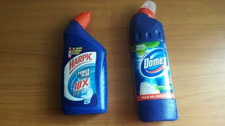 HARPIC VS DOMEX. WHICH IS BEST .BATHROOM EASY CLEANING