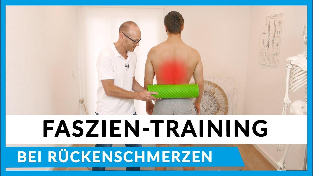 Faszienübungen bei Rückenschmerzen - Faszienrollmassage..