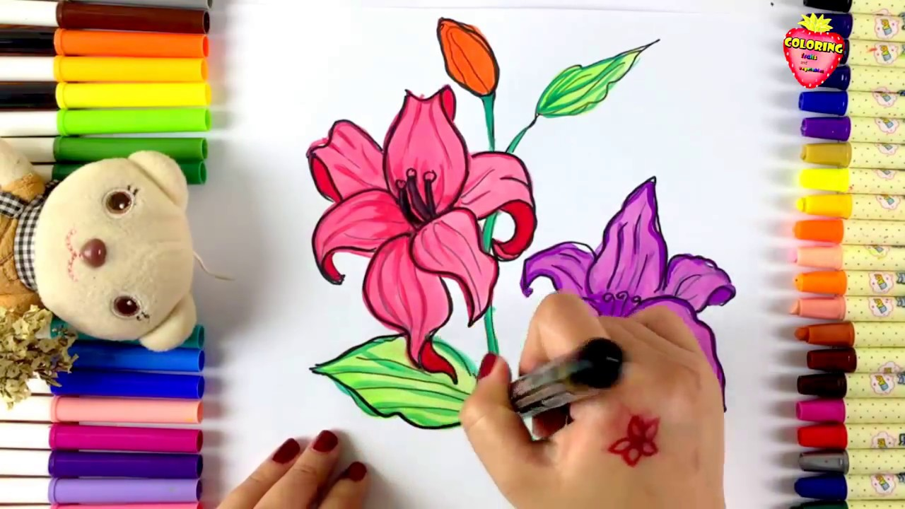 how to draw flowers for kids kids learn drawing youtube