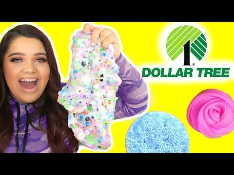 Thumbnail: DOLLAR TREE SLIME CHALLENGE! Making Slime Using Dollar Tree Ingredients!
