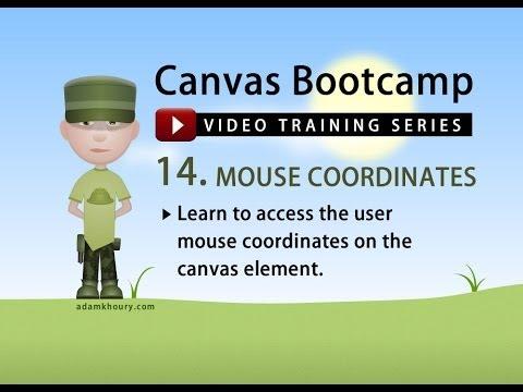 Canvas Bootcamp 14 - Mouse Coordinates JavaScript Tutorial