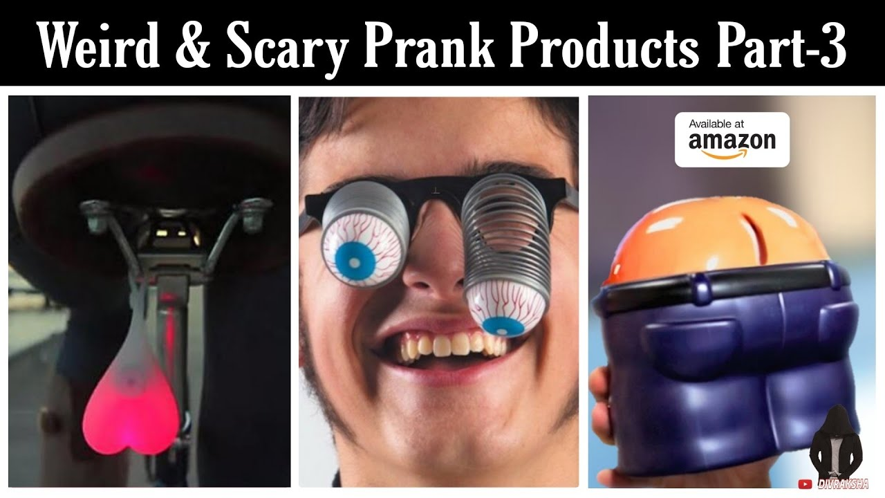 21 Weird & Scary Prank Products For Students Available On AMAZON | April Fool Things Under Rs 50