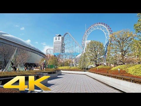 Walking around Tokyo Dome and Korakuen - Long Take【東京・東京ドーム/後楽園】 4K