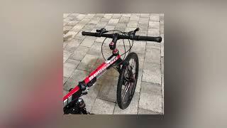 Foldable Aluminum Road Mountain Bike Magnesium Alloy Integrated 10 Spoke Wheels