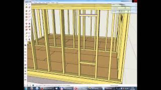 Урок 7 Проектирование дома в SketchUp(1. Оформление оконных и дверных проемов 2. Обшивка OSB-3., 2014-06-12T17:09:21.000Z)
