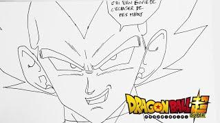 Comment dessiner VEGETA Dragon Ball Super