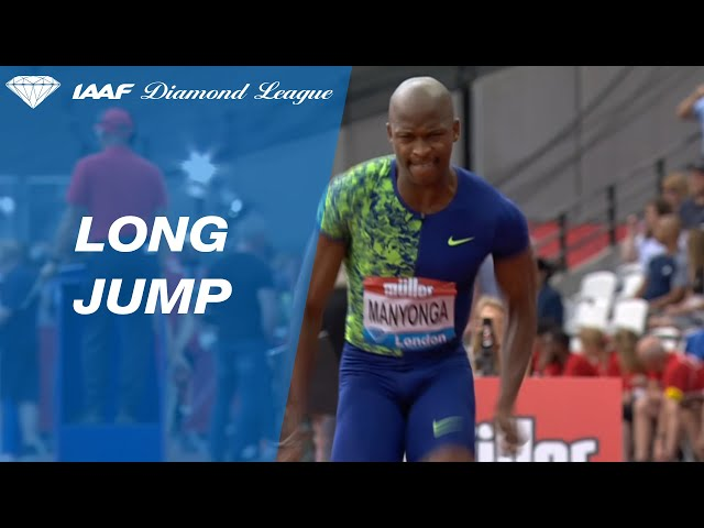 Manyonga soars to a long jump victory in London - IAAF Diamond League 2019