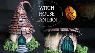 Polymer Clay Witch House Lantern/Jar // Maive Ferrando