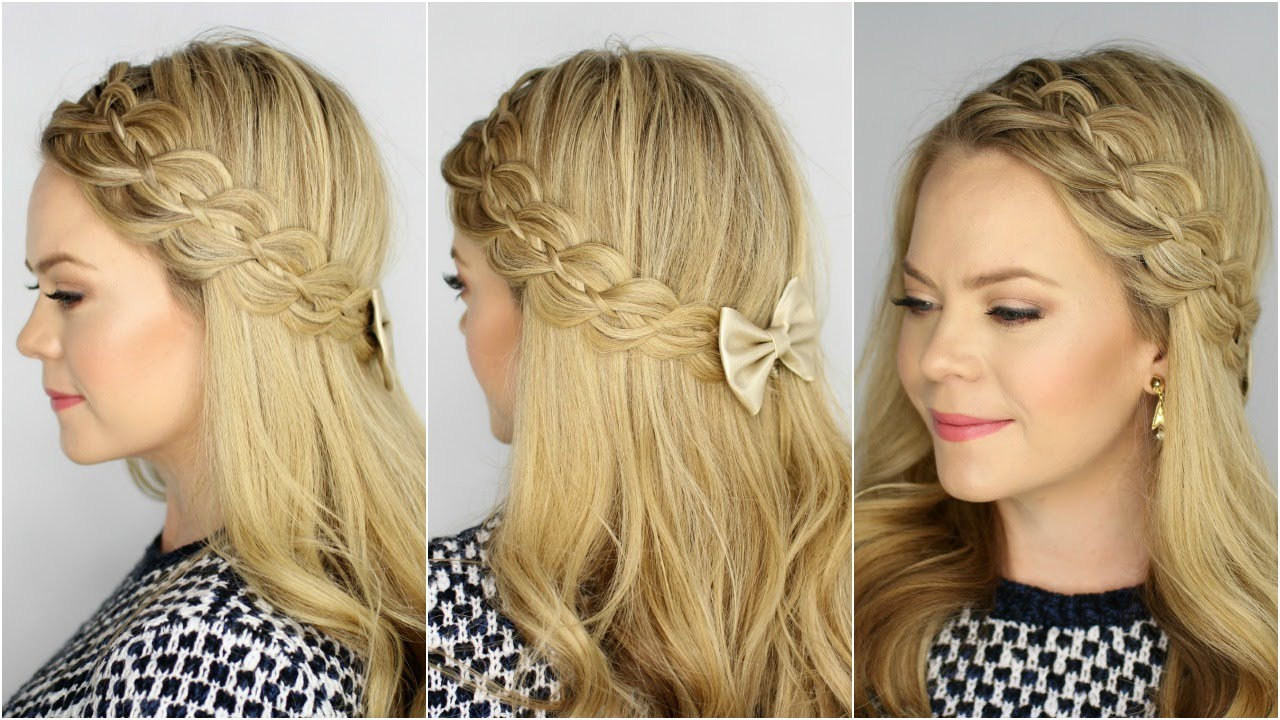 four strand headband braid youtube