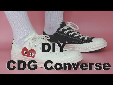 DIY CDG Converse (EASY) - YouTube