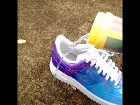 Color changing Air Force One Custom - YouTube 98c04be6d4c0