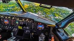 BEAUTIFUL Cockpit Landing at Vilnius - Boeing 737