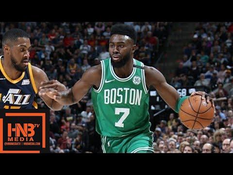 Boston Celtics vs Utah Jazz Full Game Highlights / March 28 / 2017-18 NBA Season