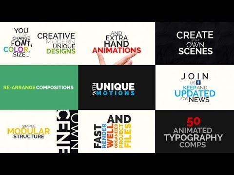Kinetic Typography Pack (After Effects Template)
