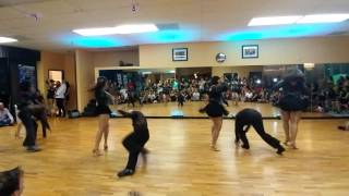 Houston Dance Factory Team Performance at Salrica Salsa Social Houston