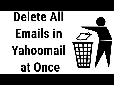 How to delete All Emails in Yahoomail at once  || New Video 2017