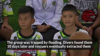 Out of Hospital, Thai Boys Meet with Media