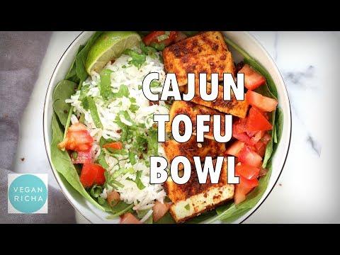 CAJUN TOFU WITH CILANTRO LIME RICE   Vegan Richa Recipes