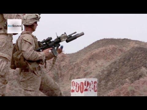 U.S. Marines M203 Grenade Launcher Live Fire Range - Sustainment Training